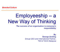 Employeeship – a New Way of Thinking